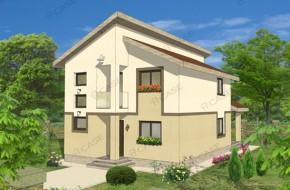 Proiect 3-011 - suprafata: 167 mp - Proiect casa cu mansarda