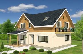 Proiect 3-013 - suprafata: 181 mp - Proiect casa cu mansarda
