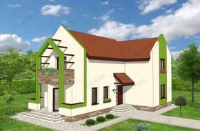 Proiect 3-017 - suprafata: 179 mp - Proiect casa cu mansarda