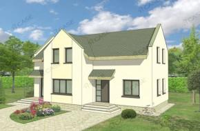 Proiect 3-018 - suprafata: 162mp - Proiect casa cu mansarda