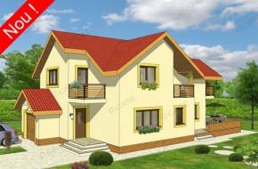 Proiect 3-020 - suprafata: 215 mp - Proiect casa cu mansarda