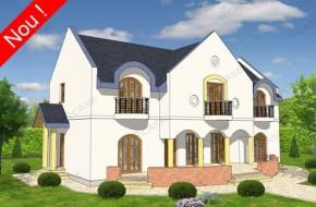 Proiect 3-021 - suprafata: 266 mp - Proiect casa cu mansarda