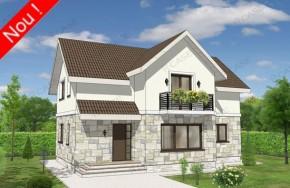 Proiect 3-026 - suprafata: 153 mp - Proiect casa cu mansarda