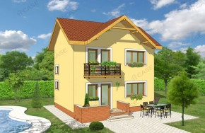 Proiect 1-005 - suprafata: 93 mp - Proiect vile cu etaj