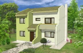 Proiect 2-004 - suprafata: 148 mp - Proiect vile cu etaj