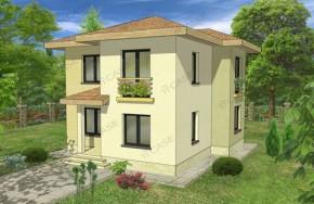 Proiect 2-005 - suprafata: 133 mp - Proiect vile cu etaj