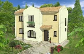 Proiect 2-010 - suprafata: 104 mp - Proiect vile cu etaj