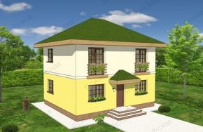 Proiect 2-016 - suprafata: 114 mp - Proiect vile cu etaj