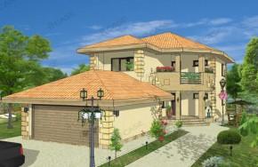 Proiect 3-007 - suprafata: 211 mp - Proiect vile cu etaj