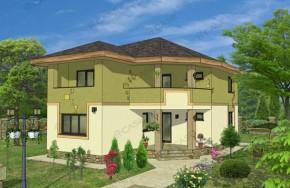 Proiect 3-008 - suprafata: 176 mp - Proiect vile cu etaj