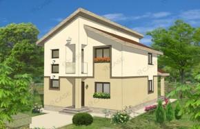 Proiect 3-011 - suprafata: 167 mp - Proiect vile cu etaj