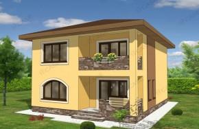 Proiect 3-014 - suprafata: 181 mp - Proiect vile cu etaj