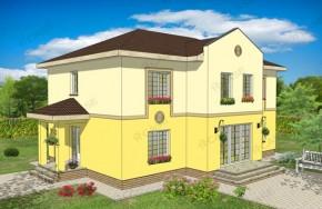 Proiect 3-016 - suprafata: 246 mp - Proiect vile cu etaj