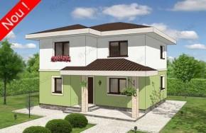 Proiect 2-023 - suprafata: 139 mp - Proiect vile cu etaj
