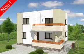 Proiect 2-024 - suprafata: 156 mp - Proiect vile cu etaj