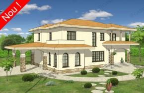 Proiect 3-024 - suprafata: 274 mp - Proiect vile cu etaj