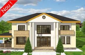Proiect 3-027 - suprafata: 371 mp - Proiect vile cu etaj