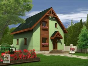 Proiect Casa Alexandra - suprafata: 124 mp - Proiecte Case mici cu mansarda