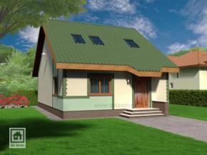 Proiect Casa Arges - suprafata: 135 mp - Proiecte Case mici cu mansarda