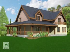 Proiect Casa Carolina - suprafata: 233 mp  - Proiecte Case mici cu mansarda