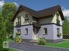Proiect Casa Eliza - suprafata: 100 mp  - Proiecte Case mici cu mansarda