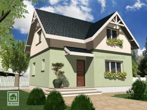 Proiect Casa Mini - suprafata: 93 mp - Proiecte Case mici cu mansarda
