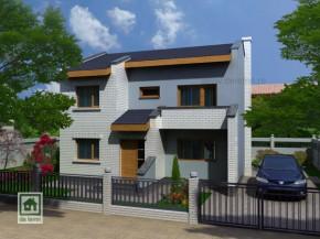 Proiect Vila Ingrid - suprafata: 148 mp - Proiecte Vile