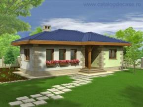 Proiect Casa Brandusa - suprafata: 78 mp  - Proiecte case mici