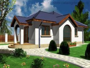 Proiect Casa Calista - suprafata: 87 mp  - Proiecte case mici