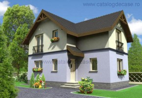 Proiect Casa Eliza - suprafata: 100 mp - Proiecte case