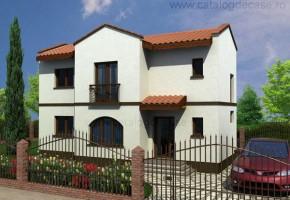 Proiect Casa Messina - suprafata: 104 mp - Proiecte case