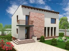 Proiect Casa Brasil - suprafata: 168 mp - Proiecte vile