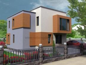 Proiect Vila Helga - suprafata: 164 mp  - Proiecte vile