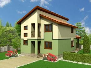 Proiect Vila Cernica - suprafata: 167 mp  - Proiecte vile
