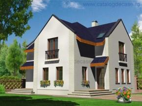 Proiect Vila Lorena - suprafata: 162 mp - Proiecte vile