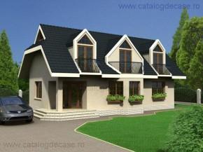 Proiect Vila Salzburg - suprafata: 172 mp - Proiecte vile