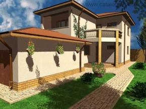 Proiect Vila Sicilia - suprafata: 193 mp - Proiecte vile