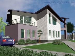 Proiect Vila Zig-Zag - suprafata: 282 mp - Proiecte vile