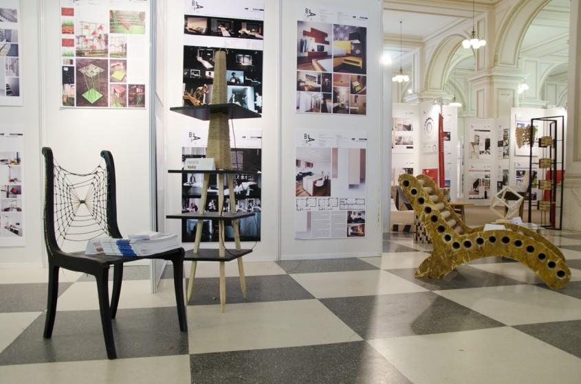 Spatiul de expozitie din cadrul MNIR Creatii ReciclaBile - Conferinta de presa spatiul de expozitie din