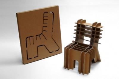 Designer David Graas (totusi scaunul se vinde cu 89 dolari, desi e folosit doar carton) - Designeri din cele mai diverse colturi ale lumii sunt inspirati de tema reciclarii