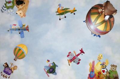 Pictura la inaltime (foto tomtow.pro.tc) - Pictura murala, autocolantele sau accesoriile suspendate de tavan creeaza o atmosfera specifica varstei