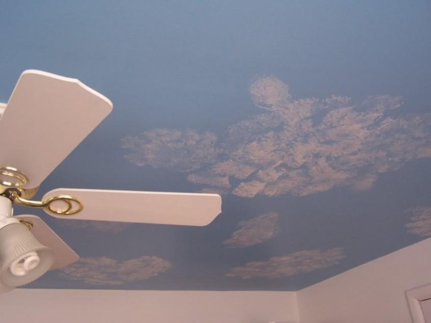 Un alt tavan innorat pictat de Dan Mages (foto via sawmillcreek org) - Pictura murala autocolantele