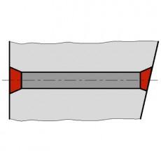 Tubul distantier cu con adanc - Tuburi fibrobeton de distantare