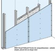 W361 - Pereti Knauf cu schelet de sustinere din lemn - W 12