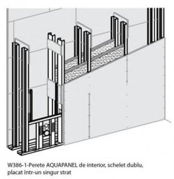 W381-1- Perete AQUAPANEL de interior - Sisteme AQUAPANEL - Pereti de interior - W 38I