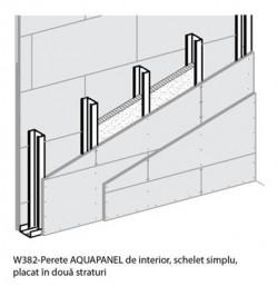 W382 - Perete AQUAPANEL de interior - Sisteme AQUAPANEL - Pereti de interior - W 38I