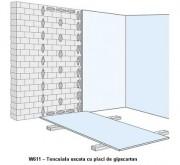 W611 - Tencuiala uscata cu placi de gipscarton - Tencuieli uscate din placi de gipscarton