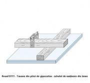 D111 Tavane din placi de gipscarton - schelet de sustinere din lemn - Tavane din placi de gipscarton