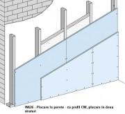 W626 - Placare la perete - cu profil CW -  Placarea la pereti