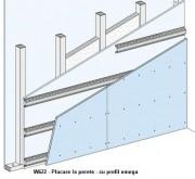 W622 - Placare la perete - cu profil omega -  Placarea la pereti